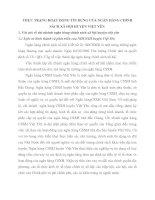 THỰC TRẠNG HOẠT ĐỘNG TÍN DỤNG CỦA NGÂN HÀNG CHÍNH SÁCH XÃ HỘI HUYỆN VIỆT YÊN