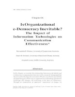 Is Organizational e-Democracy Inevitable - The Impact of Information Technologies on Communication Effectiveness