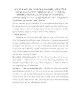 MỘT SỐ Ý KIẾN GÓP PHẦN NÂNG CAO CHẤT LƯỢNG CÔNG TÁC KẾ TOÁN TẬP HỢP CHI PHÍ SẢN XUẤT  VÀ TÍNH GIÁ THÀNH SẢN PHẨM XÂY LẮP TẠI TẬP ĐOÀN HẢI CHÂU