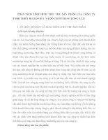 PHÂN TÍCH TÌNH HÌNH TIÊU THỤ SẢN PHẨM CỦA CÔNG TY TNHH THIẾT BỊ GIÁO DỤC VÀ ĐỒ CHƠI THĂNG LONG STD