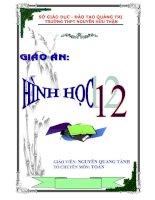 BÌA GIÁO ÁN HÌNH HỌC 12