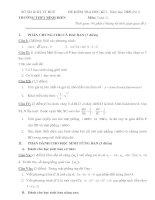Đề thi và đáp án học kì 1 môn toán lớp 11 TRƯỜNG THPT BÌNH ĐIỀN