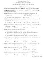 2 đề tham khảo kiểm tra học kỳ môn Toán lớp 10  và đáp án số 1+2