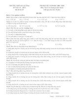 đề thi Lý 11 cơ bản mã đề 235