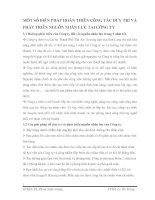 MỘT SỐ BIỆN PHÁP HOÀN THIỆN CÔNG TÁC DUY TRÌ VÀ PHÁT TRIỂN NGUỒN NHÂN LỰC TẠI CÔNG TY