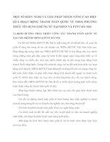 MỘT SỐ KIẾN NGHỊ VÀ GIẢI PHÁP NHẰM NÂNG CAO HIỆU QUẢ HOẠT ĐỘNG THANH TOÁN QUỐC TẾ THEO PHƯƠNG THỨC TÍN DỤNG CHỨNG TỪ TẠI NHNN VÀ PTNT HÀ NỘI