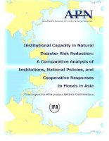 A comparative analysis of institutions, national policies, and cooperative responses to floods in Asia