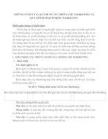 NHỮNG CƠ SỞ LÝ LUẬN CHUNG VỀ CHIẾN LƯỢC MARKETING VÀ QUÁ TRÌNH HOẠCH ĐỊNH  MARKETING