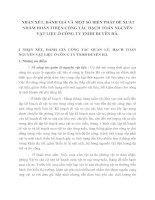 NHẬN XÉT, ĐÁNH GIÁ VÀ MỘT SỐ BIỆN PHÁP ĐỀ XUẤT NHẰM HOÀN THIỆN CÔNG TÁC HẠCH TOÁN NGUYÊN VẬT LIỆU Ở CÔNG TY TNHH DUYÊN HÀ