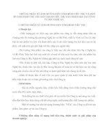 NHỮNG NHÂN TỐ ẢNH HƯỞNG ĐẾN TÌNH HÌNH TIÊU THỤ VÀ MỘT SỐ GIẢI PHÁP CHỦ YẾU ĐẨY MẠNH TIÊU THỤ SẢN PHẨM BIA TẠI CÔNG TY BIA NGHỆ AN