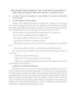 MỘT SỐ BIỆN PHÁP NHẰM DUY TRÌ VÀ MỞ RỘNG THỊ TRƯỜNG TIÊU THỤ SẢN PHẨM Ở NHÀ MÁY THUỐC LÁ THĂNG LONG