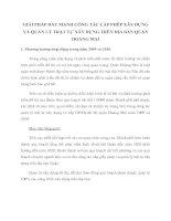 GIẢI PHÁP ĐẨY MẠNH CÔNG TÁC CẤP PHÉP XÂY DỰNG VÀ QUẢN LÝ TRẬT TỰ XÂY DỰNG TRÊN ĐỊA BÀN QUẬN HOÀNG MAI