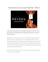 Văn hóa làm việc của người Nhật Bản – Phần 3