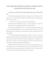 THỰC TRẠNG VÀ GIẢI PHÁP CHO NGHIỆP VỤ TÍN DỤNG CỦA CÁC NGÂN HÀNG THƯƠNG  MẠI VIỆT NAM