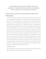 MỘT SỐ BIỆN PHÁP NHẰM HOÀN THIỆN CHÍNH SÁCH MARKETING CHO THỊ TRƯỜNG KHÁCH MỸ TẠI CHI NHÁNH CÔNG TY DỊCH VỤ DU LỊCH ĐƯỜNG SẮT SÀI GÒN