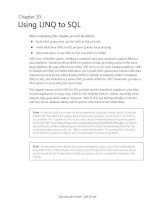 Using LINQ to SQL
