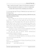THỰC TRẠNG TỔ CHỨC CÔNG TÁC KẾ TOÁN CHI PHÍ VÀ TÍNH GIÁ THÀNH SẢN PHẨM CỦA CÔNG TY TNHH NHÀ NƯỚC MỘT THÀNH VIÊN CƠ KHÍ QUANG TRUNG