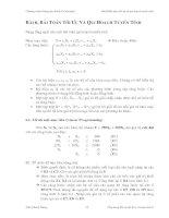 Bài toán tối ưu và quy hoạch tuyến tính