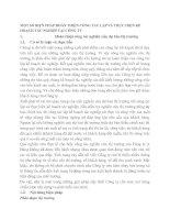 MỘT SỐ BIỆN PHÁP HOÀN THIỆN CÔNG TÁC LẬP VÀ THỰC HIỆN KẾ HOẠCH TÁC NGHIỆP TẠI CÔNG TY