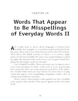 Words That Appear to Be Misspellings of Everyday Words II