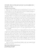 TÌM HIỂU CHUNG VỀ TỔ CHỨC KẾ TOÁN TẠI XÍ NGHIỆP SÀNG TUYỂN VÀ CẢNG