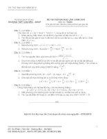 Đề thi thử đại học lần I năm 2010 môn toán