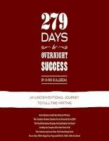 279 days to overnight success - Successful blogging