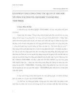 GIẢI PHÁP TĂNG CƯỜNG CÔNG TÁC QUẢN LÝ NHÀ NƯỚC VỀ CÔNG TÁC BẢO VỆ, CHĂM SÓC VÀ GIÁO DỤC TEHCĐBKK