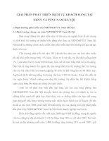 GIẢI PHÁP PHÁT TRIỂN DỊCH VỤ KHÁCH HÀNG TẠI NHNN VÀ PTNT NAM HÀ NỘI