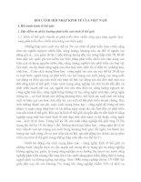 BỐI CẢNH HỘI NHẬP KINH TẾ CỦA VIỆT NAM