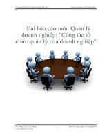 Bài báo cáo môn Quản lý doanh nghiệp:
