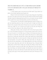 MỘT SỐ Ý KIẾN ĐỀ XUẤT VỀ CÁC BIỆN PHÁP GIẢM CHI PHÍ SẢN XUẤT KINH DOANH VÀ HẠ GIÁ THÀNH SẢN PHẨM Ở XÍ NGHIỆP 24