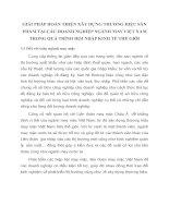 GIẢI PHÁP HOÀN THIỆN XÂY DỰNG THƯƠNG HIỆU SẢN PHẨM TẠI CÁC DOANH NGHIỆP NGÀNH MAY VIỆT NAM TRONG QUÁ TRÌNH HỘI NHẬP KINH TẾ THẾ GIỚI