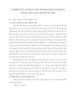 NGHIÊN CỨU HÀNH VI TIÊU DÙNG KEM CỦA KHÁCH  HÀNG TRÊN THỊ TRƯỜNG HÀ NỘI