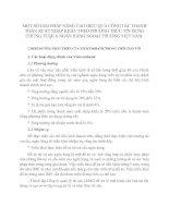 MỘT SỐ GIẢI PHÁP NÂNG CAO HIỆU QUẢ CÔNG TÁC THANH TOÁN XUẤT NHẬP KHẨU THEO PHƯƠNG THỨC TÍN DỤNG CHỨNG TỪQUA NGÂN HÀNG NGOẠI THƯƠNG VIỆT NAM