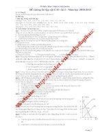 Đề cương ôn tập học kỳ 1 - Vật lý 10 - Trường THPT Đa Phúc - Năm học 2010-2011