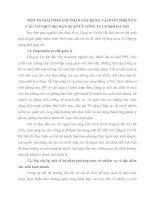 MỘT SỐ GIẢI PHÁP GÓP PHẦN XÂY DỰNG VÀ HOÀN THIỆN CƠ CẤU TỔ CHỨC BỘ MÁY QUẢN LÝ CÔNG TY CƠ KHÍ HÀ NỘI