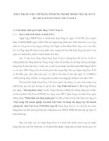 THỰC TRẠNG VIỆC XẾP HẠNG TÍN DỤNG NỘI BỘ TRONG VIỆC QUẢN LÝ RỦI RO TẠI NGÂN HÀNG TMCP NAM Á