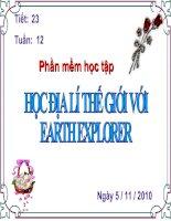 Hoc dia ly the gioi voi Earth Explorer