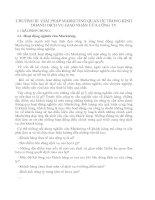 CHƯƠNG III  GIẢI PHÁP MARKETING QUAN HỆ TRONG KINH DOANH DỊCH VỤ GIAO NHẬN CỦA CÔNG TY