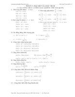 Bài tập hình học giải tích hình học 11 P1