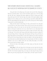 MỘT SỐ BIỆN PHÁP CƠ BẢN NHẰM NÂNG CAO HIỆU QUẢ SẢN XUẤT KINH DOANH Ở XÍ NGHIỆP IN I TTXVN