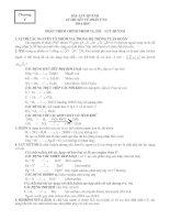 Lý thuyết và bài tập về Oxy_lưu huỳnh
