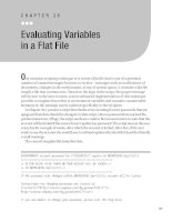 Evaluating Variables in a Flat File
