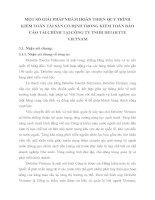 MỘT SỐ GIẢI PHÁP NHẰM HOÀN THIỆN QUY TRÌNH KIỂM TOÁN TÀI SẢN CỐ ĐỊNH TRONG KIỂM TOÁN BÁO CÁO TÀI CHÍNH TẠI CÔNG TY TNHH DELOITTE VIETNAM