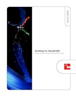 Building for Bandwidth How to Choose the Right Cabling Infrastructure