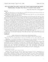 PHẪU THUẬT CẮT THỰC QUẢN KHÔNG MỞ NGỰC TRONG ĐIỀU TRỊ UNG THƯ TM VỊ V 1/3 DƯỚI THỰC QUẢN