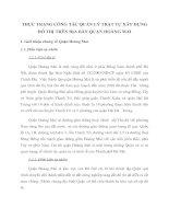 THỰC TRẠNG CÔNG TÁC QUẢN LÝ TRẬT TỰ XÂY DỰNG ĐÔ THỊ TRÊN ĐỊA BÀN QUẬN HOÀNG MAI