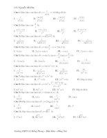 Trắc nghiệm đạo hàm toán 11 Nguyễn Thế Thu