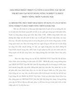 GIẢI PHÁP HOÀN THIỆN VÀ NÂNG CAO CÔNG TÁC QUẢN TRỊ RỦI RO TẠI NGÂN HÀNG NÔNG NGHIỆP VÀ PHÁT TRIỂN NÔNG THÔN NAM HÀ NỘI
